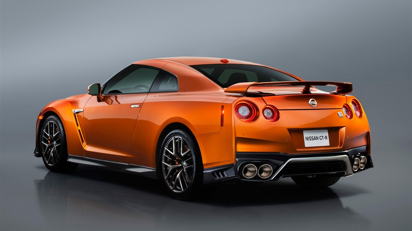 2017 orange Nissan GTR Auto HD Fonds d'écran