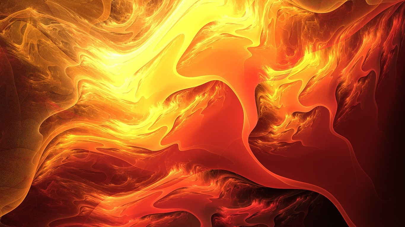 Pintura De Fuego Naranja Amarillo Design Theme Hd Wallpapers