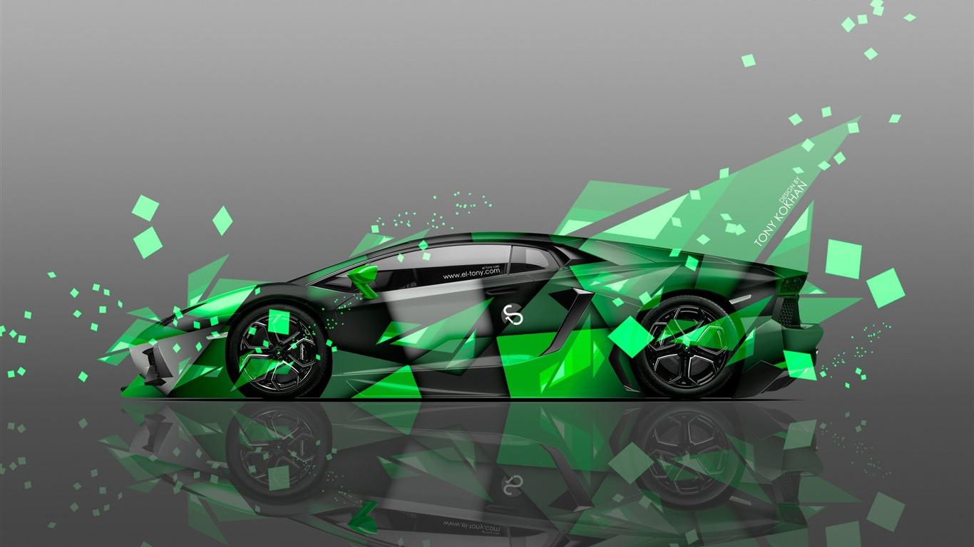 Lamborghini Aventador Vector Art Design Hd Wallpaper Preview