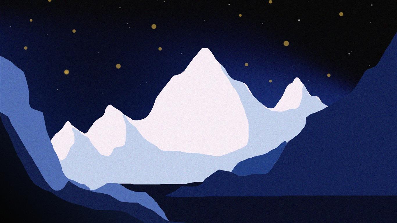 Mountains Vector Art Design Hd Wallpaper Preview 10wallpaper Com