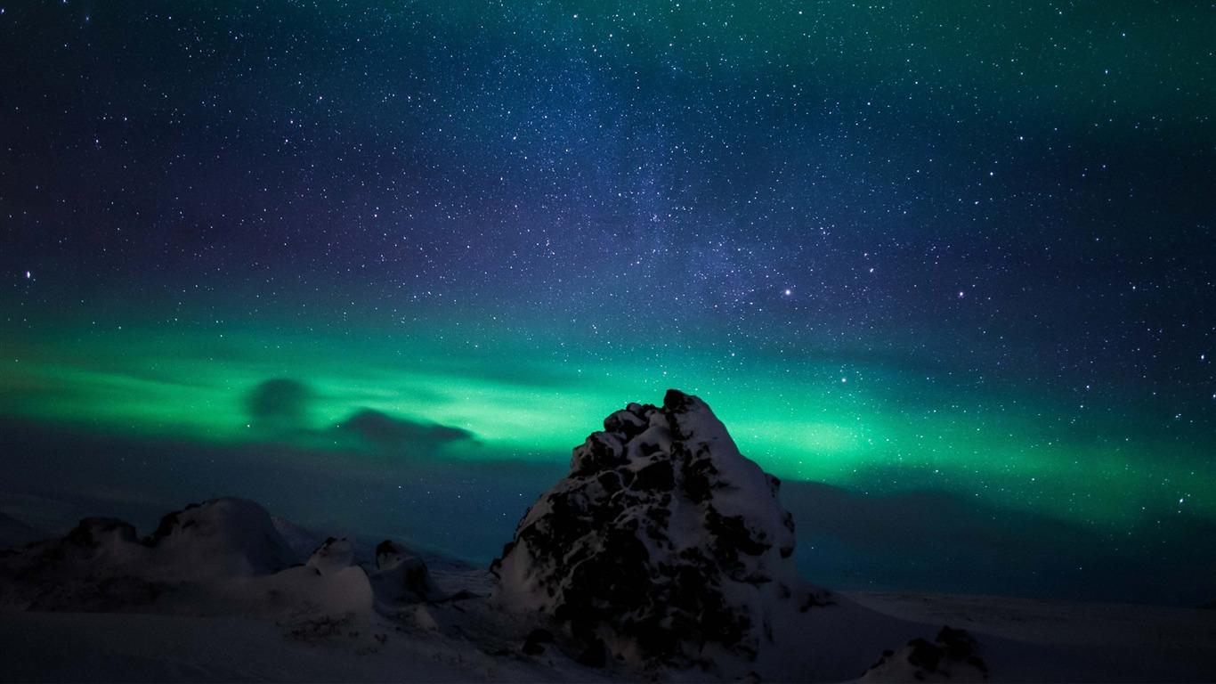 Aurores Boréales Borealis Aurore Islande Nature Hd Fonds D
