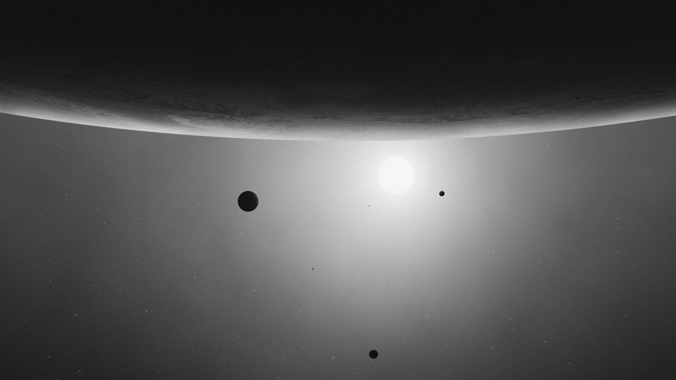 Black White Minimal Deep Space High Quality Desktop Wallpaper