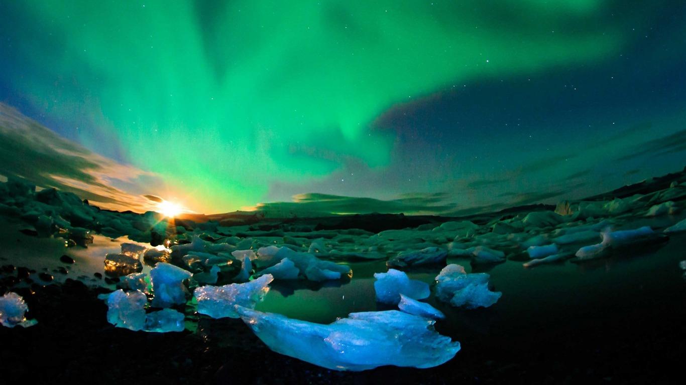 Islande Aurores Boréales Ciel Nature Paysage Hd Fond Décran