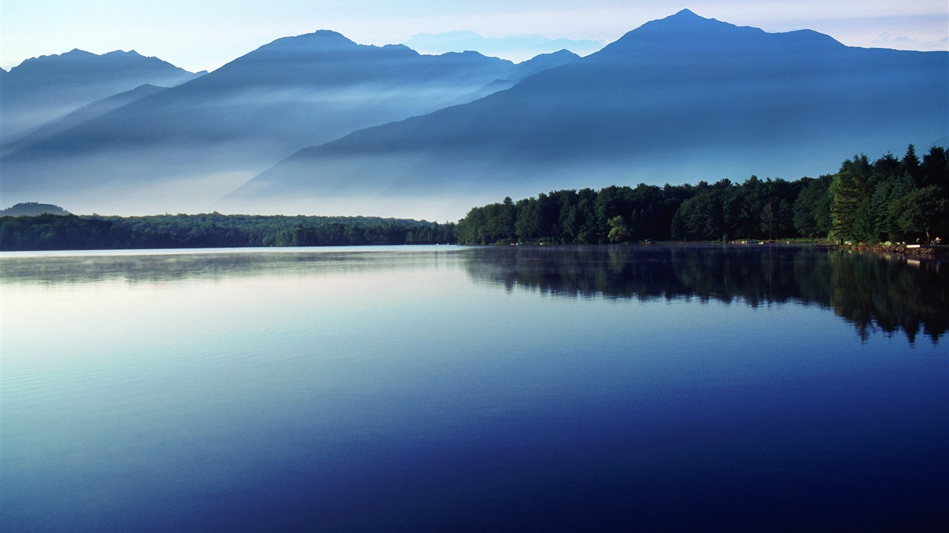 Morning Calm Lake Nature Scenery Hd Wallpaper Preview