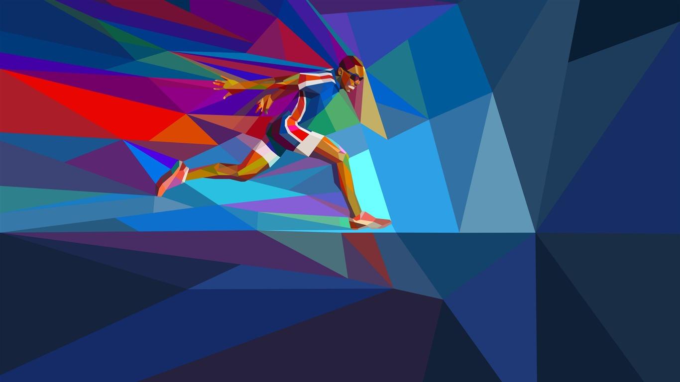 ランナー リオ16年オリンピックのhdのベクトル壁紙プレビュー 10wallpaper Com