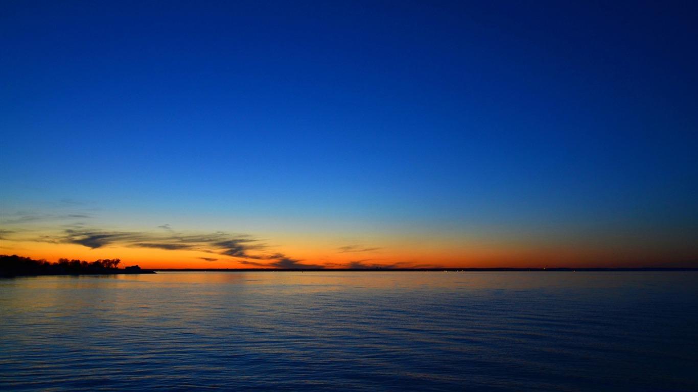 海の夕日スカイライン 高品質のデスクトップの壁紙プレビュー
