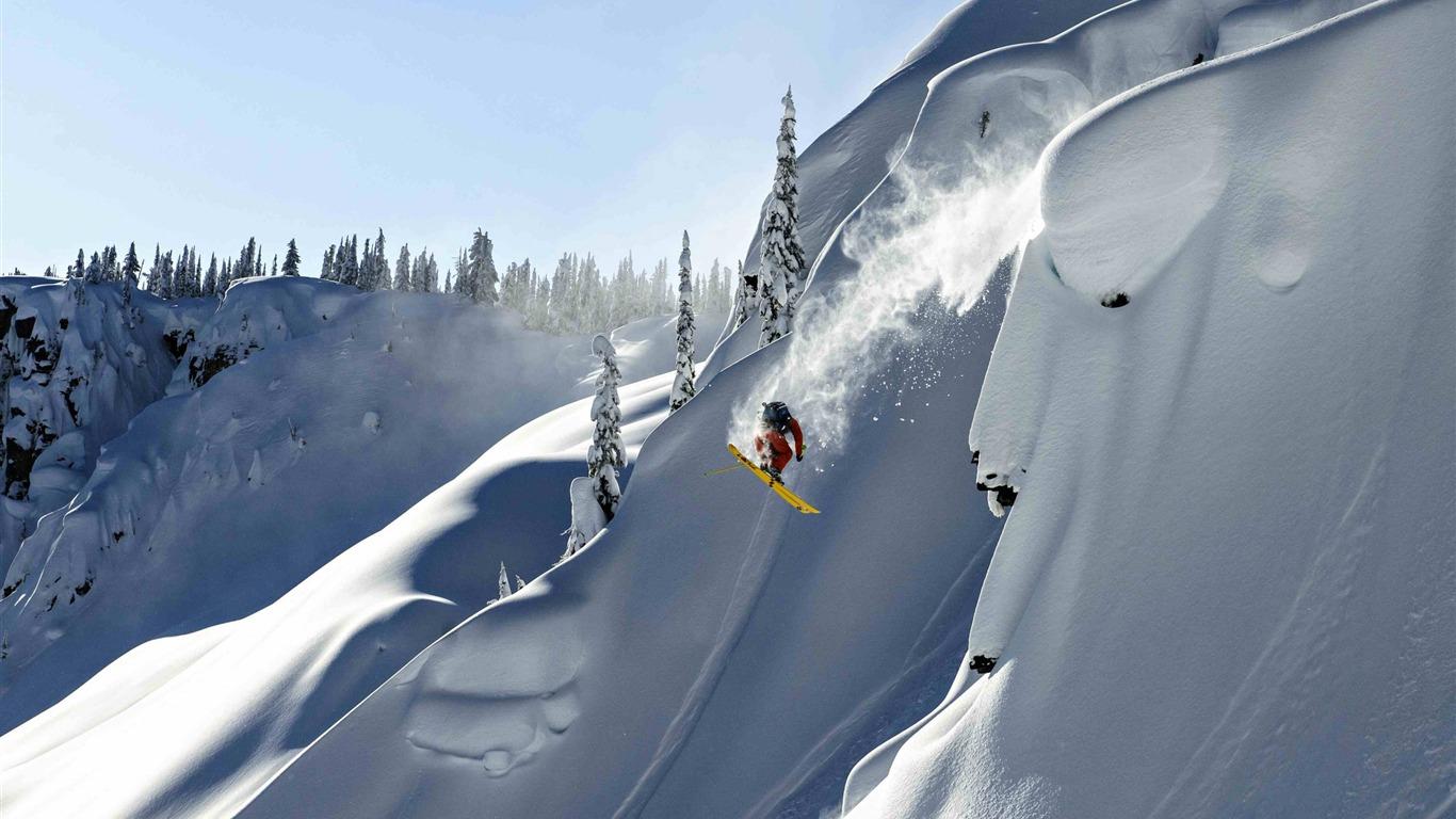 Snow Mountain Snowboarding Extreme Hd Wallpaper 05 Avance