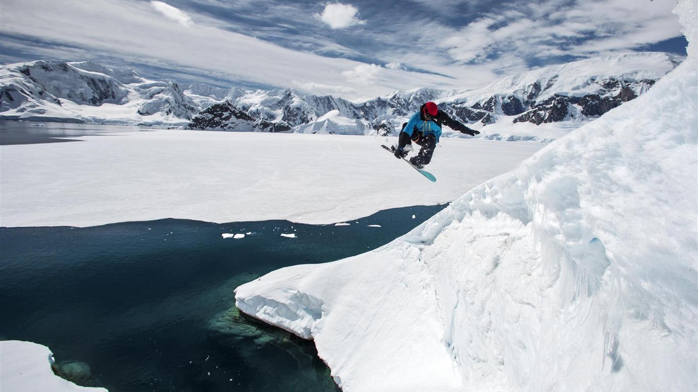 Snow Mountain Snowboarding Extreme Hd Wallpaper 07 Avance