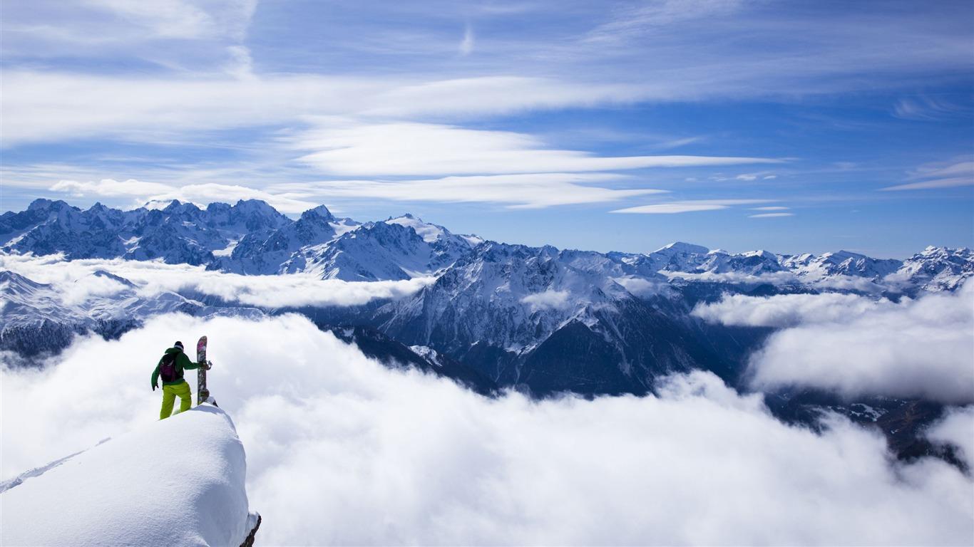 Snow Mountain Snowboarding Extreme Hd Wallpaper 09 Avance