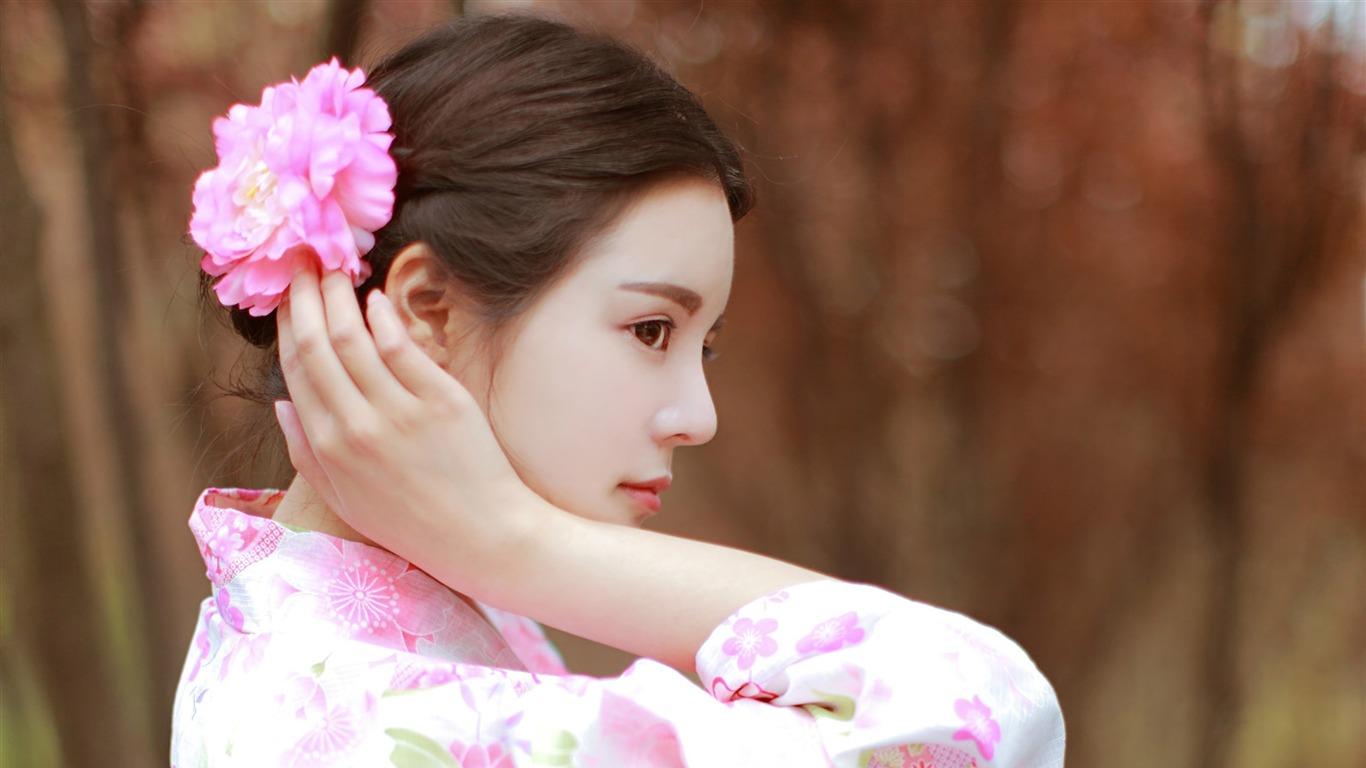 日本の着物の美しさの写真ポスターテーマの壁紙プレビュー