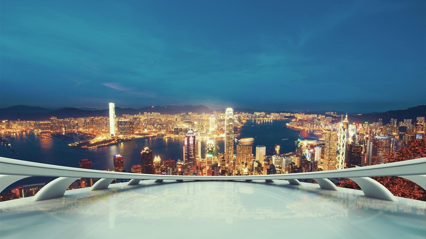 夜の明るい街の明かり 撮影のhdの壁紙プレビュー 10wallpaper Com