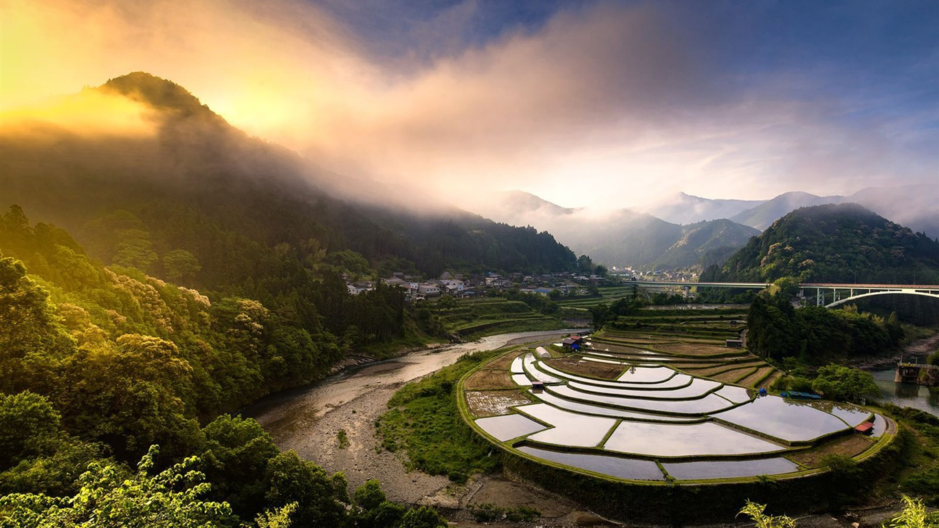Paisaje De Arrozales De Japón National Geographic Wallpaper