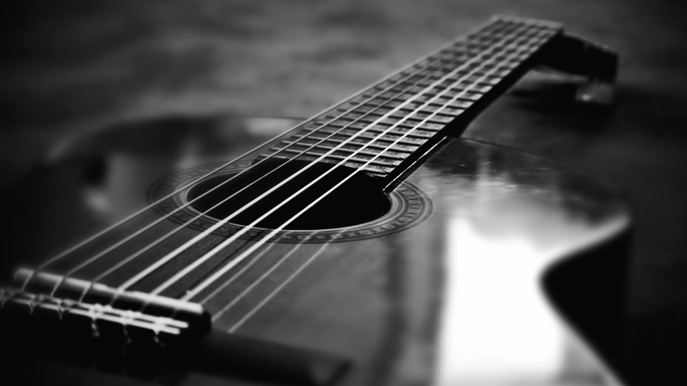 モノクロギター 16 音楽のhdの壁紙プレビュー 10wallpaper Com