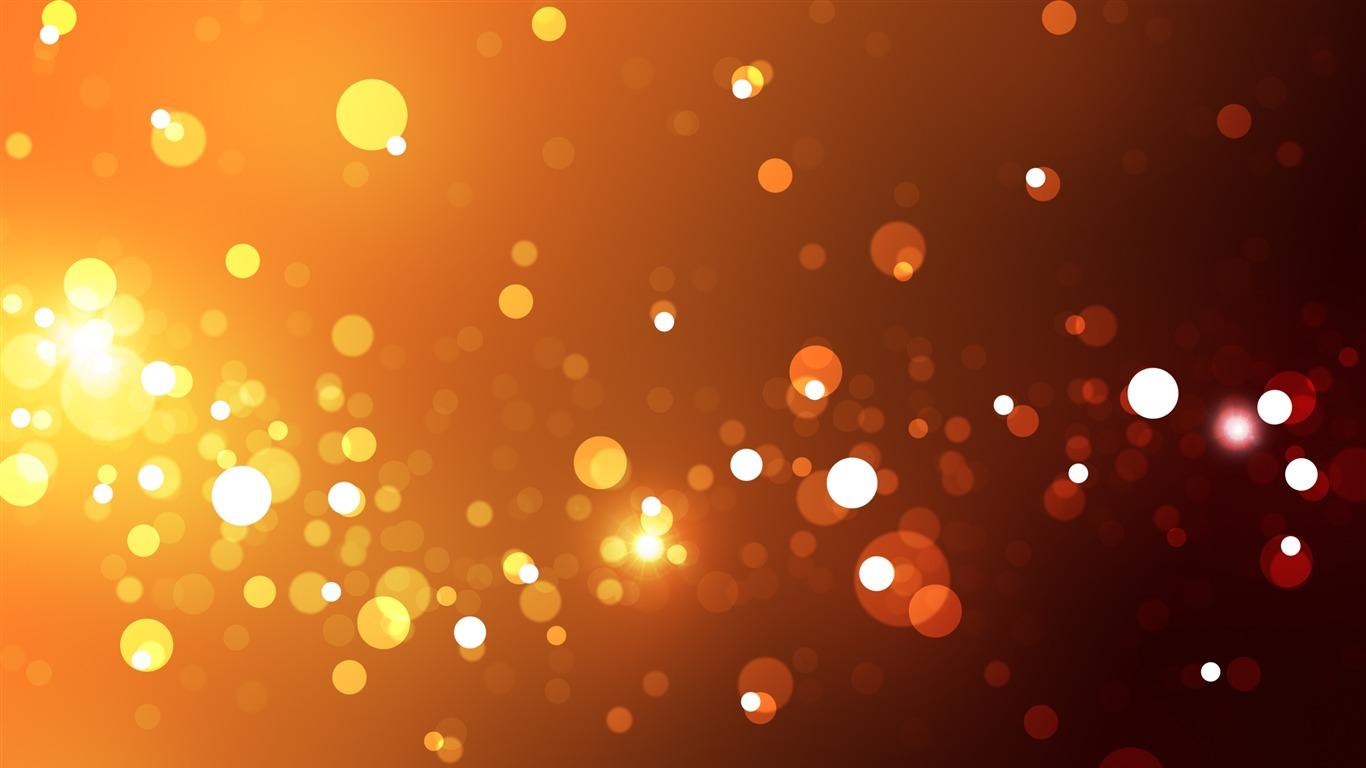 Resumen Naranja Luces Circle Design Desktop Wallpaper Avance