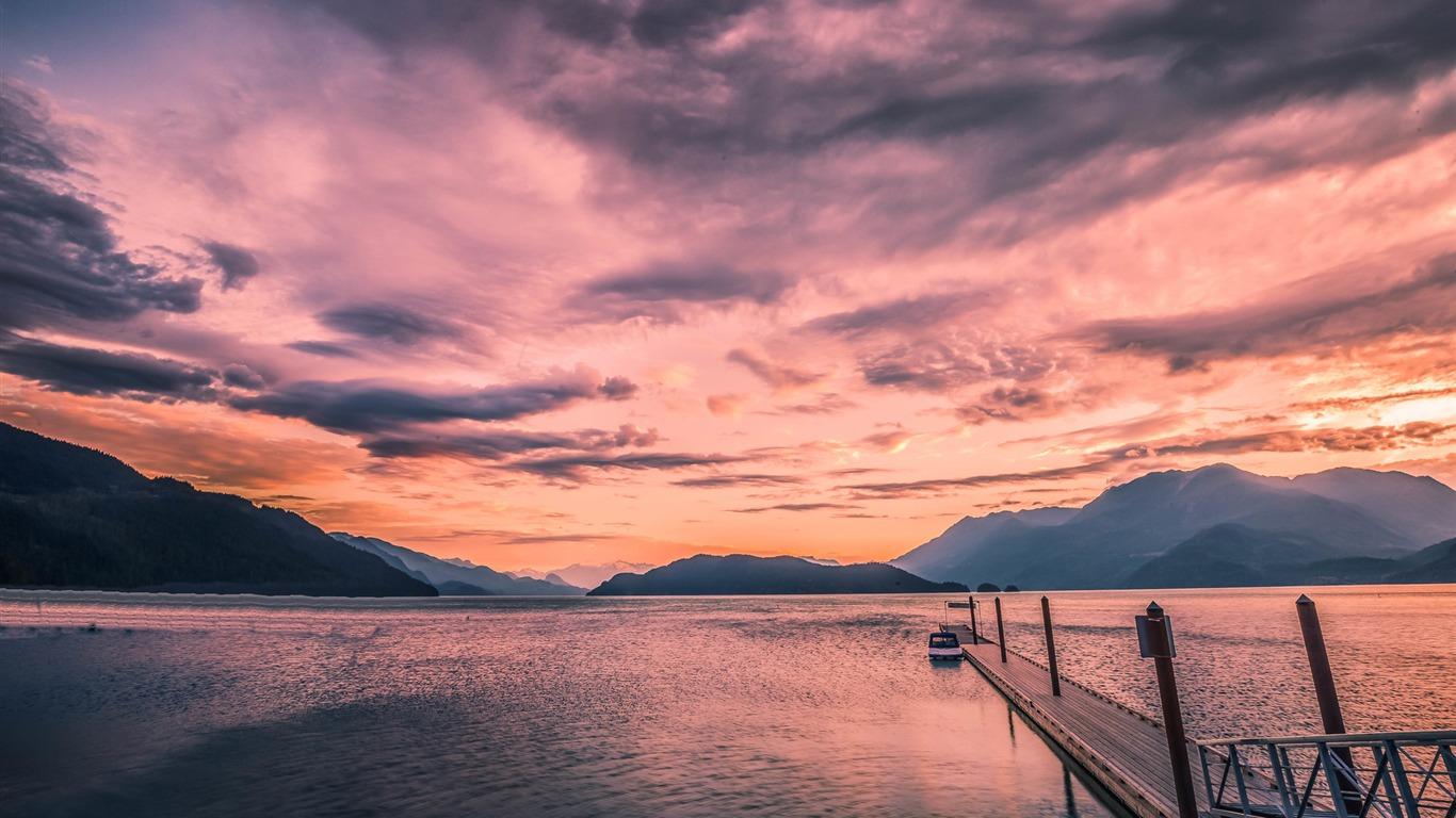 カナダハリソン湖の美しい風景壁紙プレビュー 10wallpaper Com