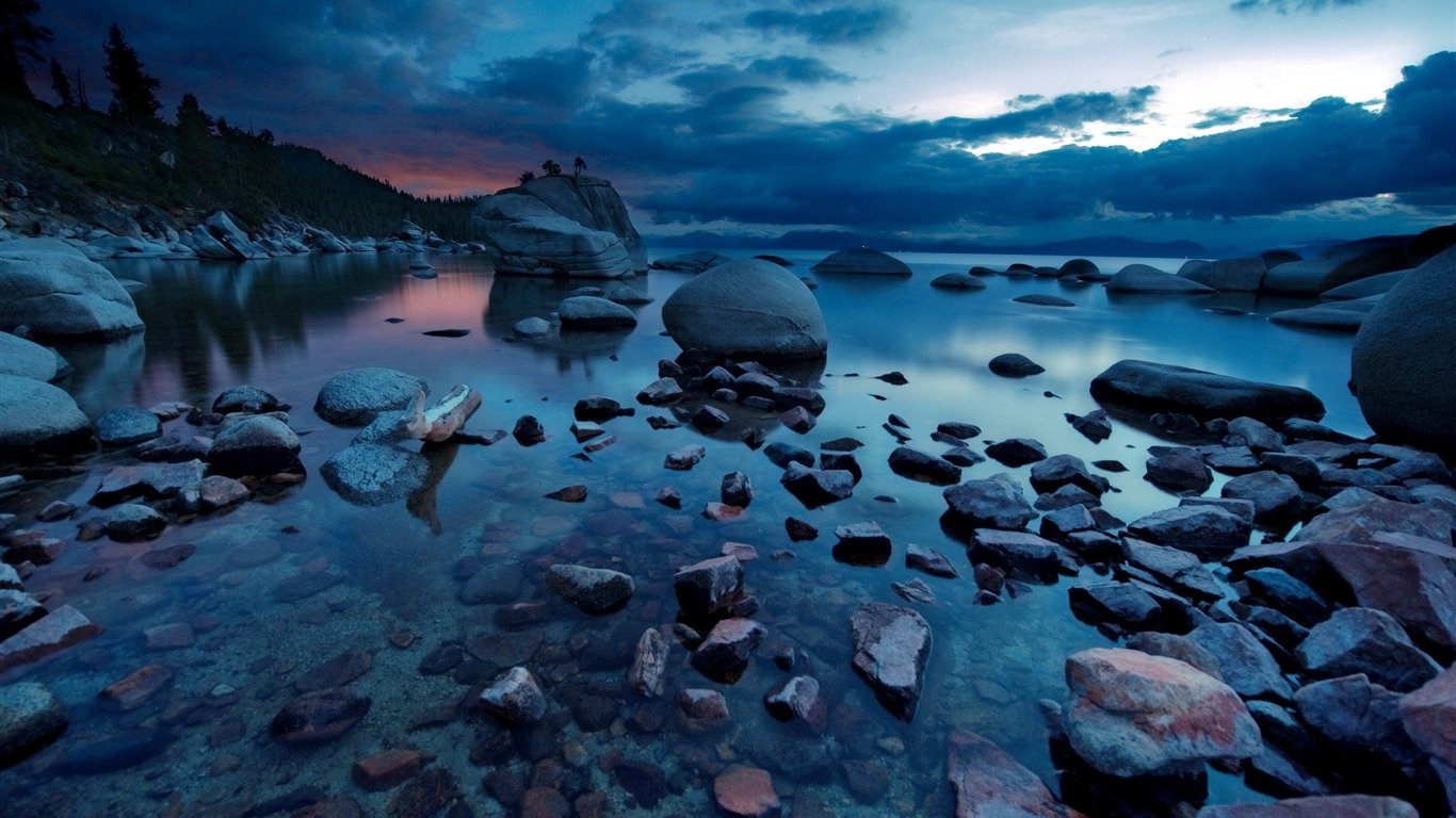 Nature Night Forest Rocks Lakes Windows 10 Hd Wallpapers