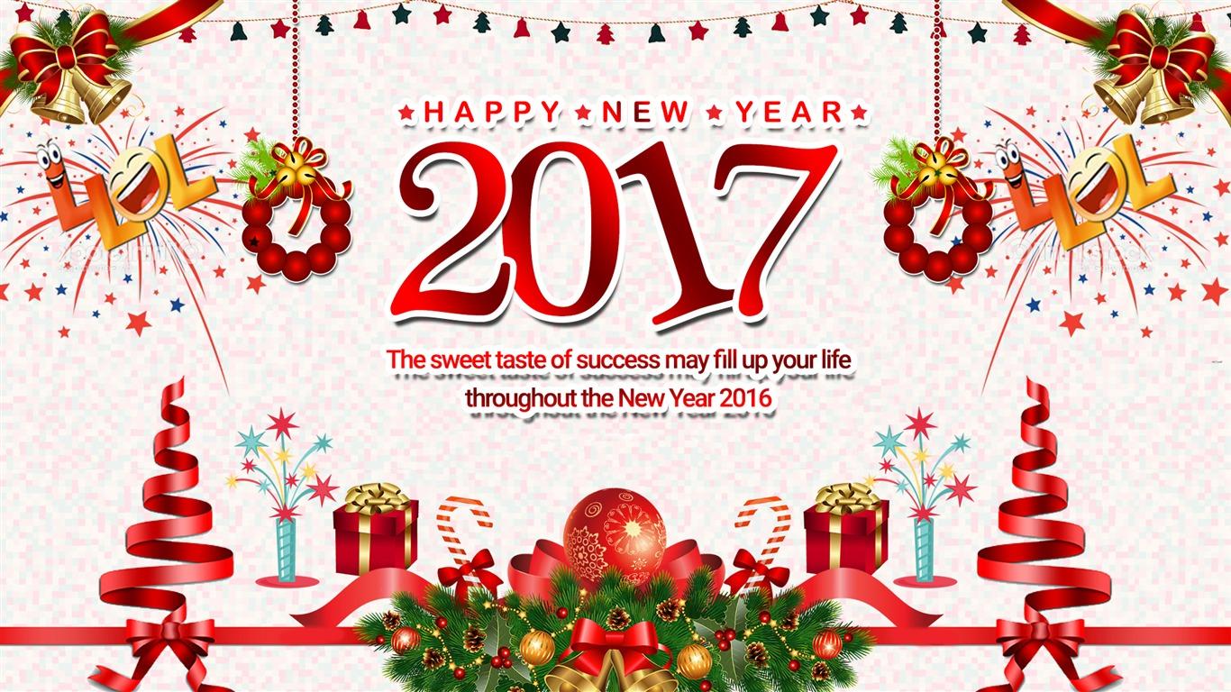 Happy New Year 2017 Hd Theme Desktop Wallpaper 19 Preview