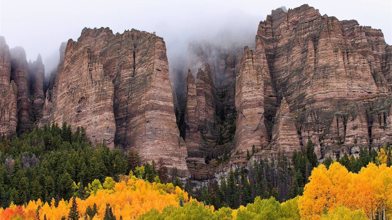 High Mountains Autumn Tree Leaves-Nature High Quality HD ...