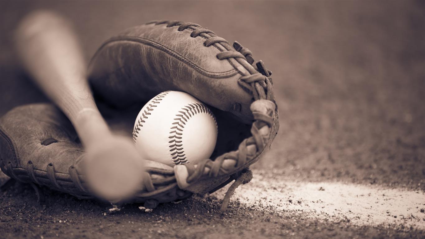 野球のバットとグローブ スポーツポスターのhd壁紙プレビュー