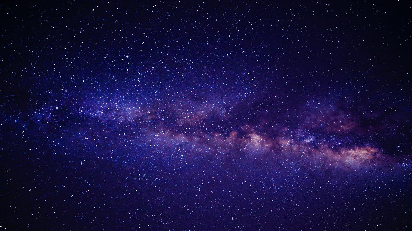 Espaço para o céu estrelas leitosas - Papel de parede de ...