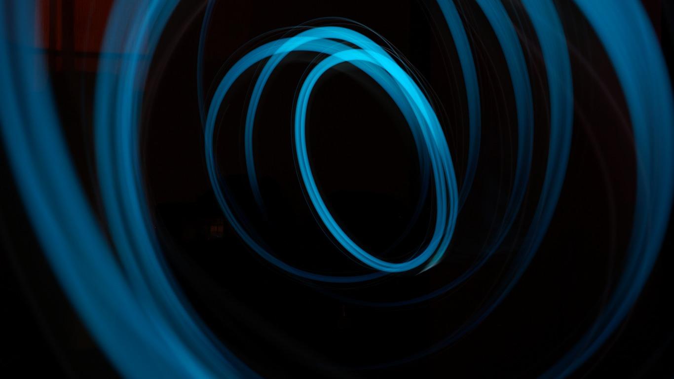 青色の暗いライト ベクターデザインのhd壁紙プレビュー 10wallpaper Com