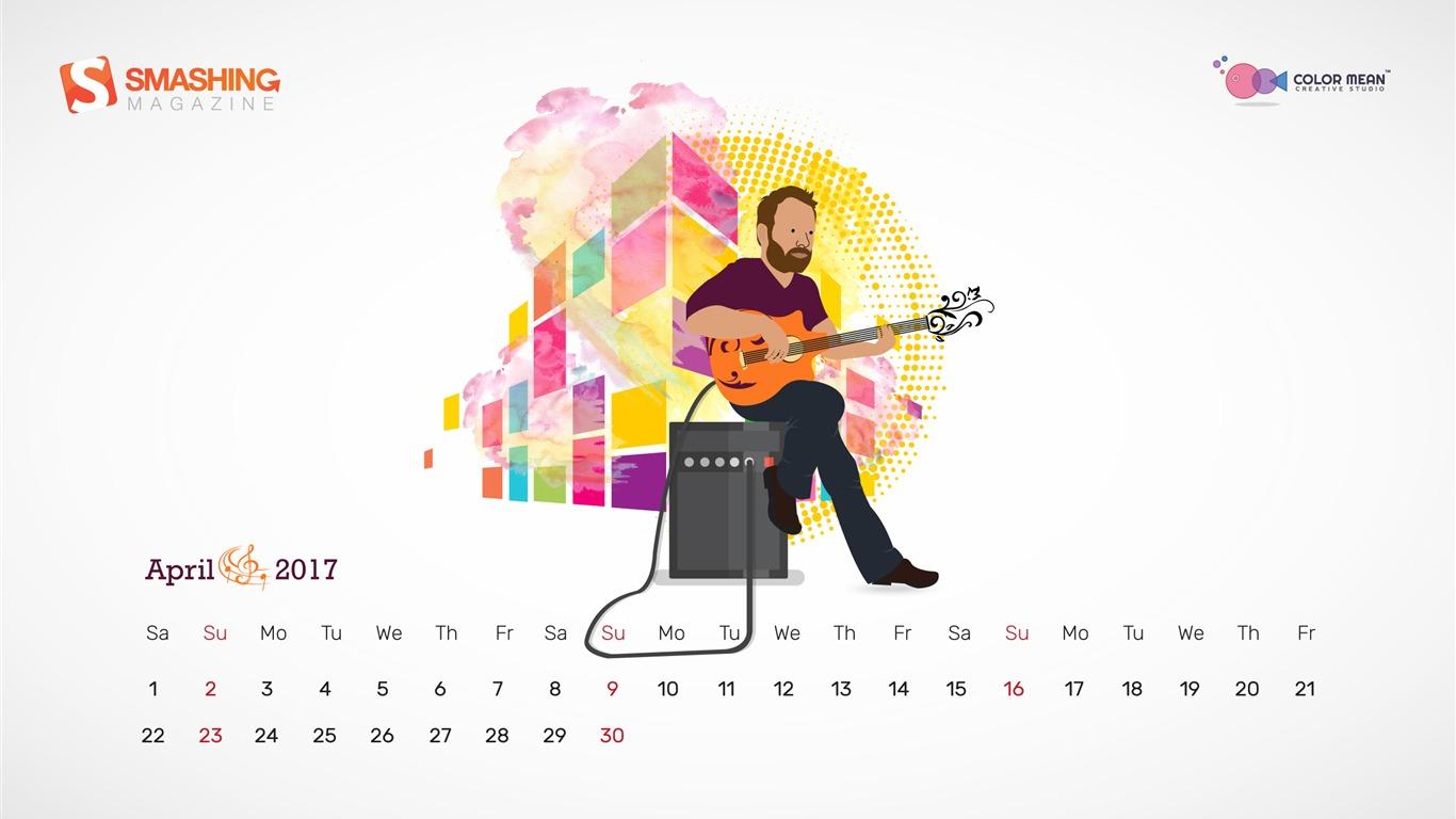Calendario De Abril De Abril De 2017 Octave April Wallpaper