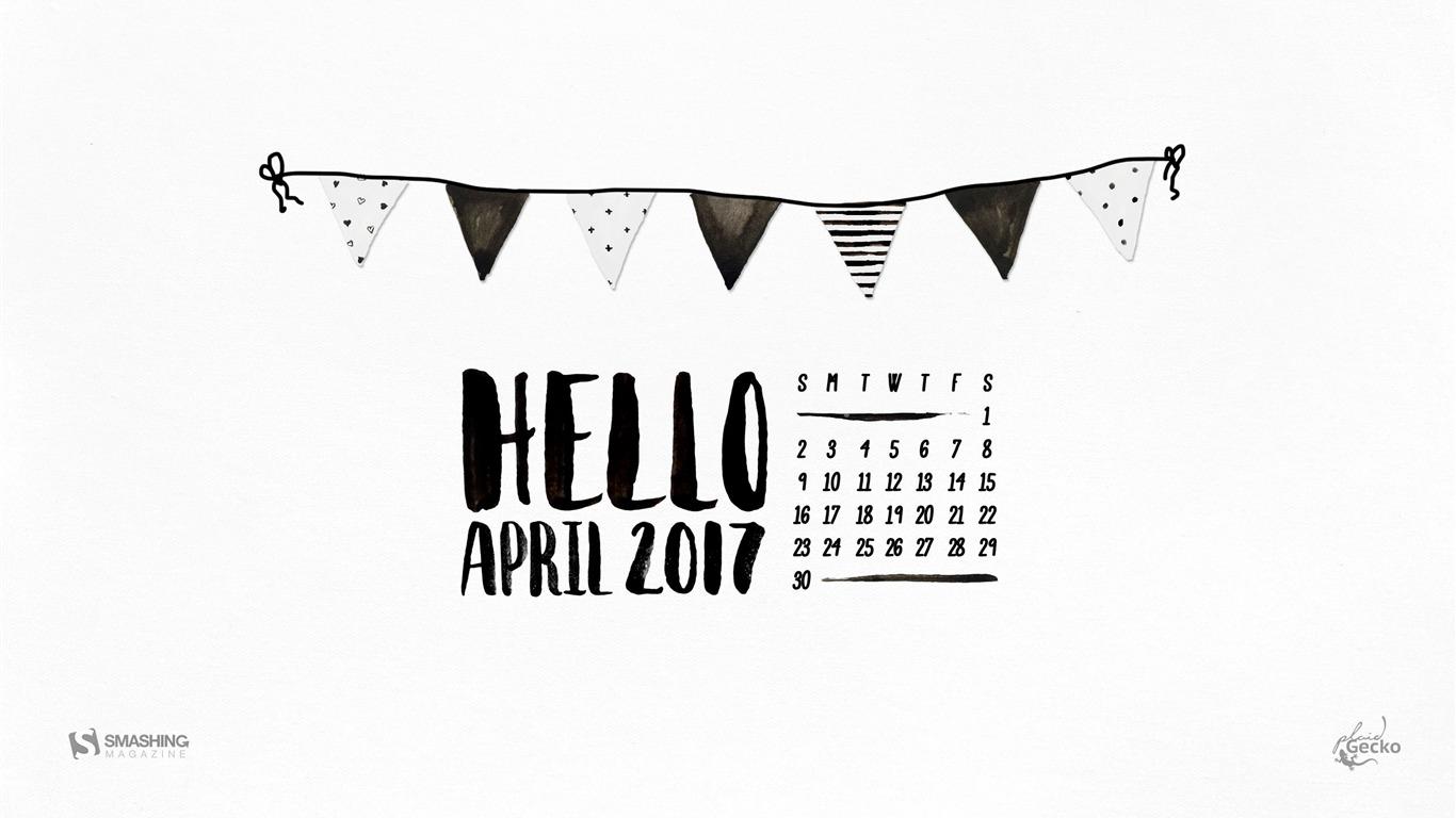 Calendario De Hello April 2017 Calendar Avance 10wallpapercom