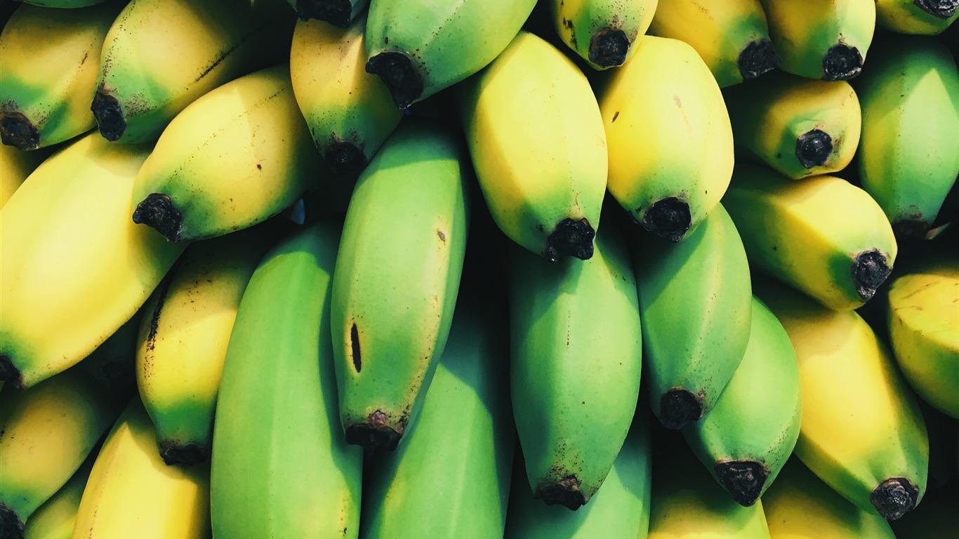 壁紙 ミューズリー マンダリンオレンジ バナナ ナッツ 食品