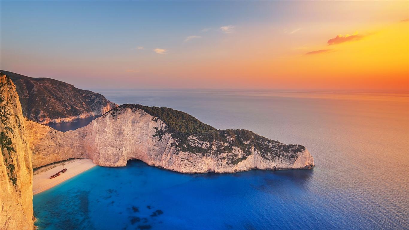 Greece Navagio Beach At Zakynthos 2017 Bing Desktop