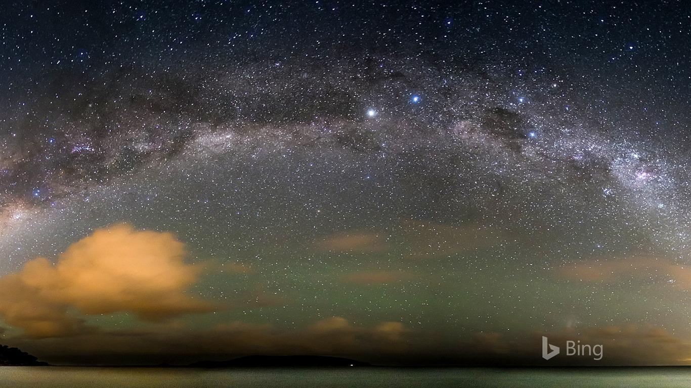 La Voie Lactée Sur Locéan Atlantique 2017 Bing Fonds D