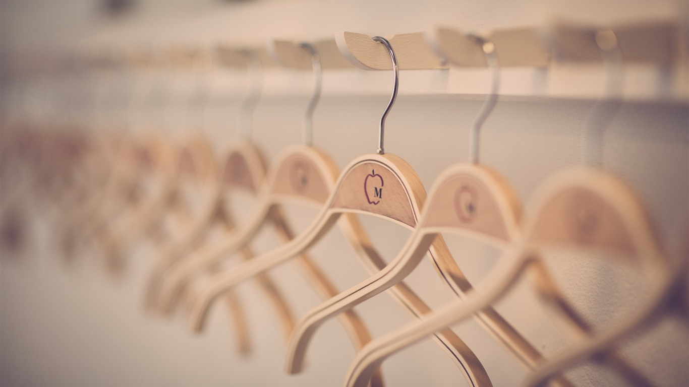 Clothes Hanging In Store Design Hd Wallpaper Preview