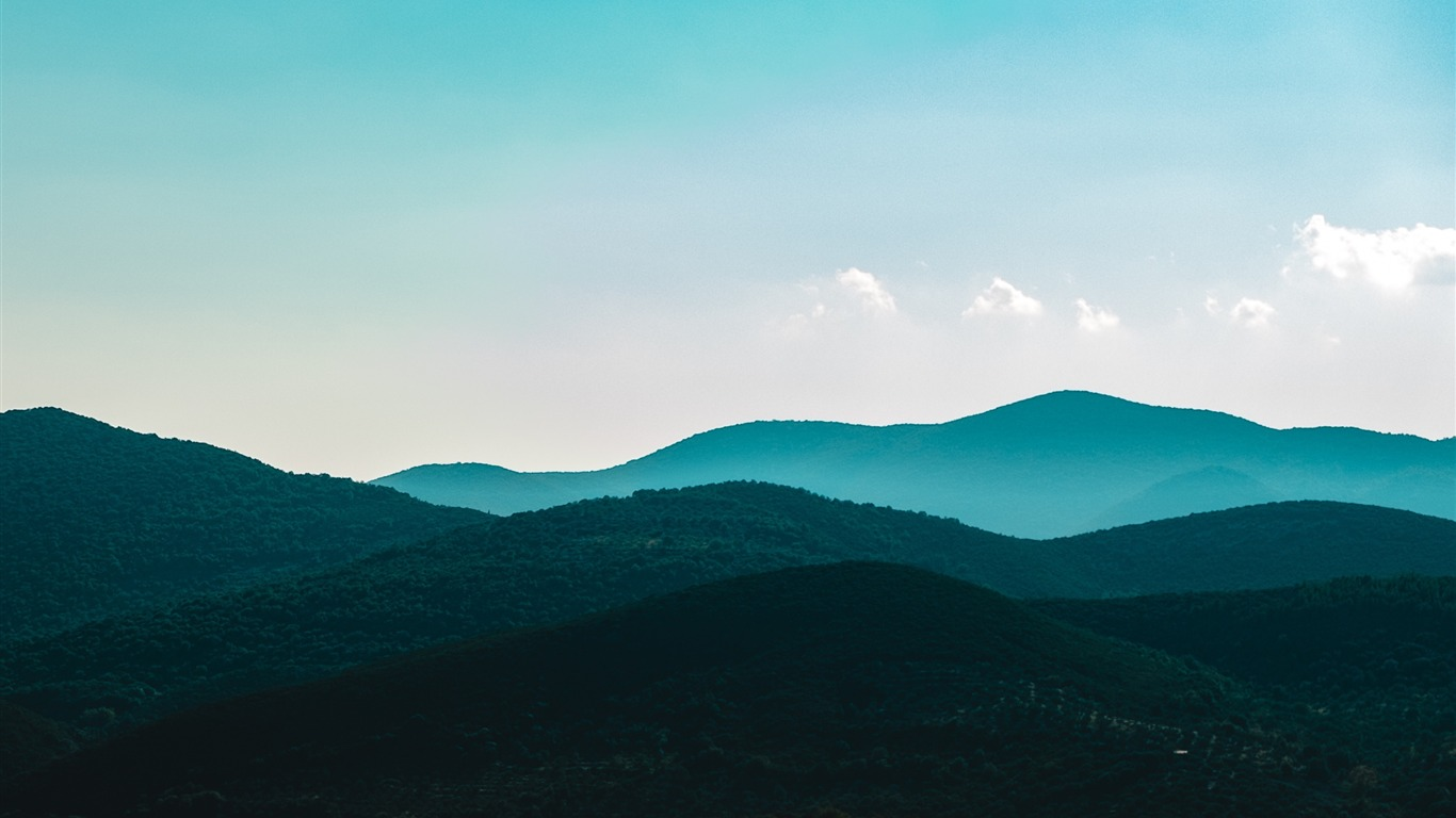 Mountains_trees_evening_sky-Scenery_HD_Wallpaper