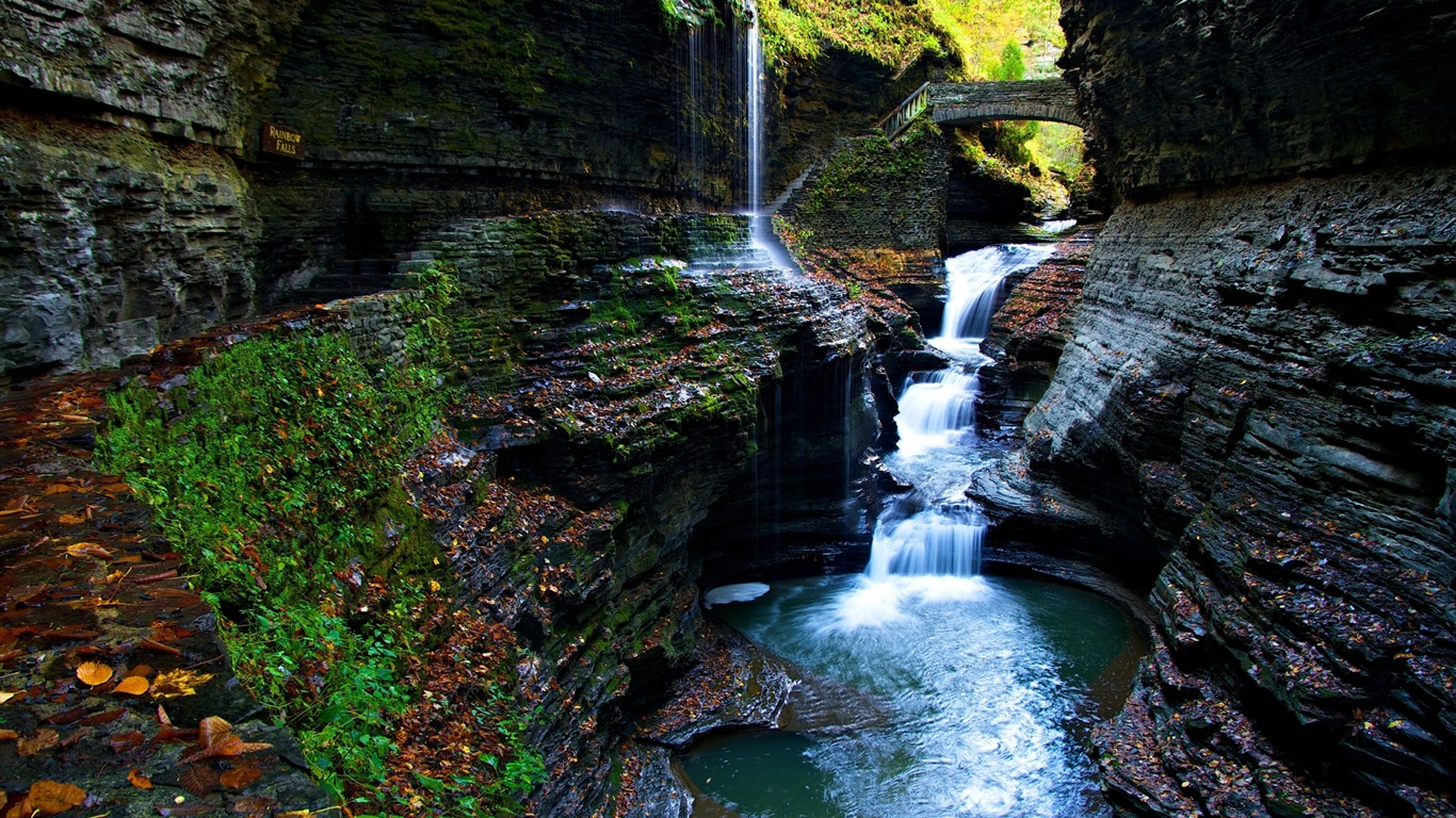 moss_gorge_watkins_glen_state_park_falls-Scenery_HD_Wallpaper