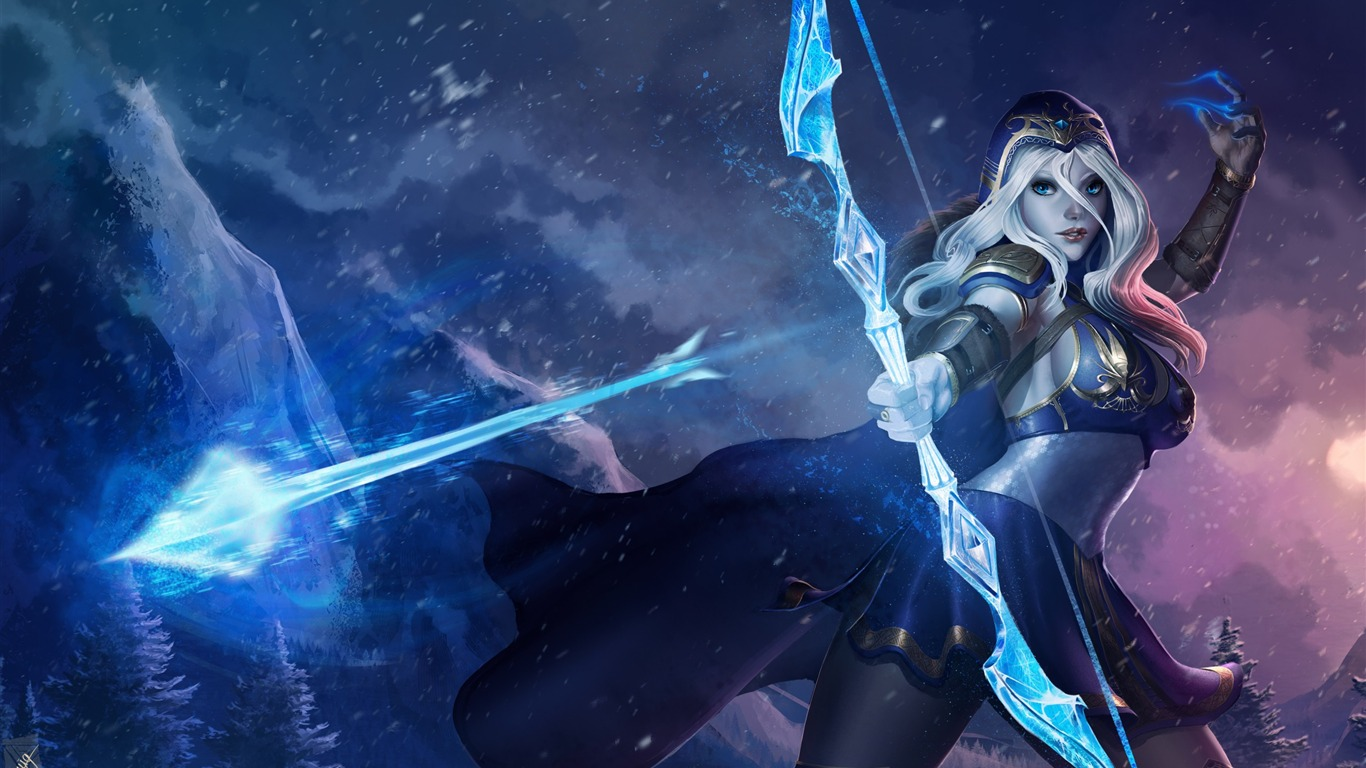Ashe League Of Legends 2017 Game Hd Wallpaper Preview