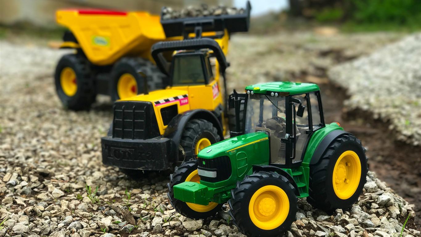 Construction_farm_tractor-Micro_cities_photo_HD_wallpaper2017.9.14