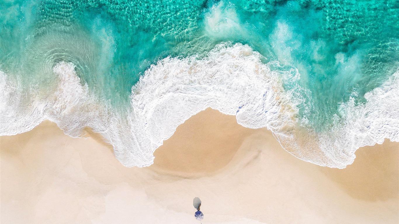 Ocean Beach Apple Ios 11 Iphone 8 Iphone X Hd Wallpaper