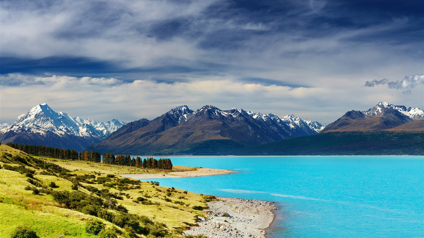 New Zealand River Mountains Nature Hd Wallpaper Preview