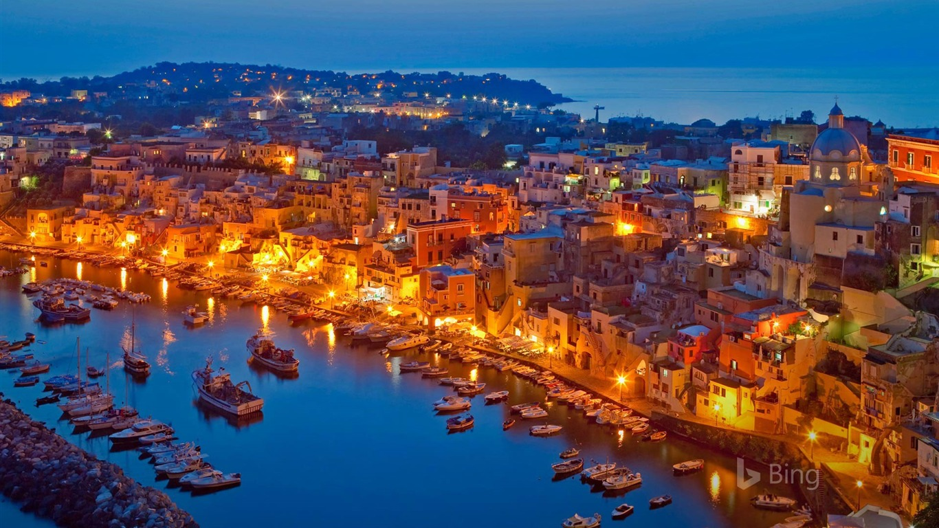 Procida Island In The Gulf Of Naples Italy 2017 Bing Wallpaper