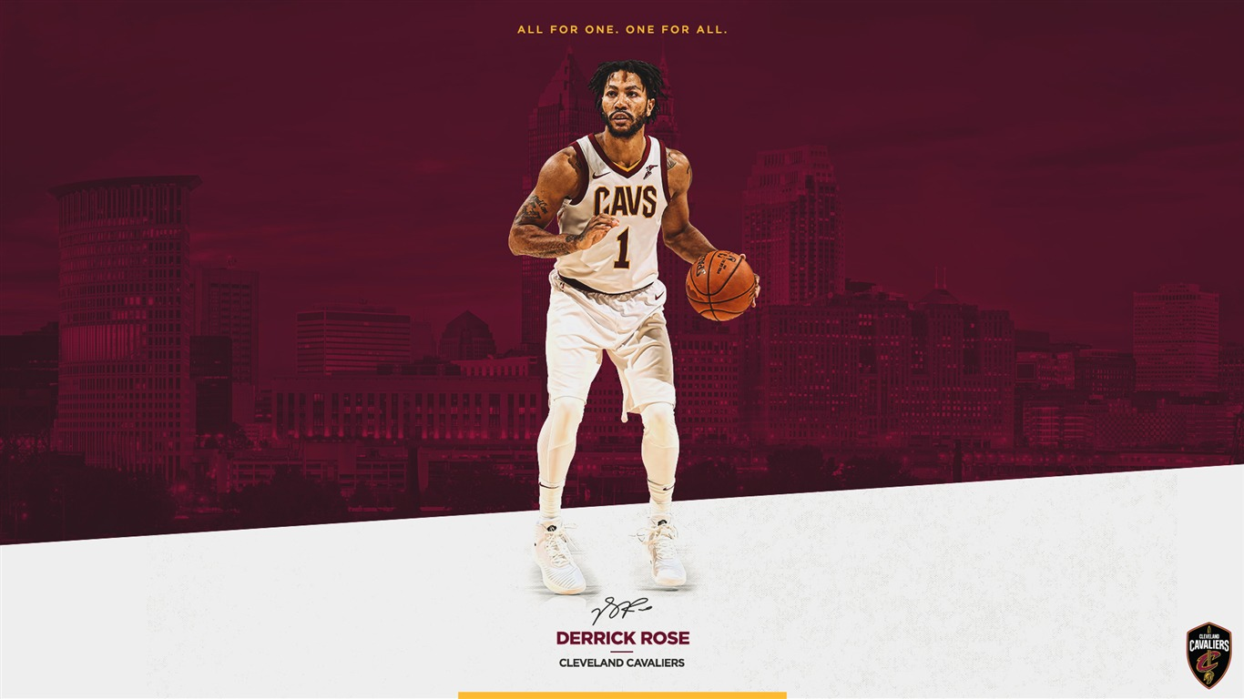 Derrick rose cavaliers 2017 2018 players wallpaper preview - Derrick rose cavs wallpaper ...