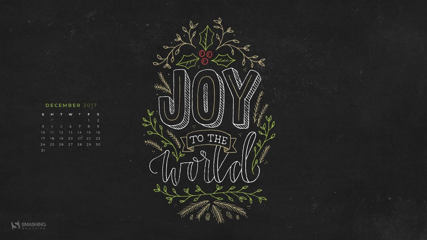 Joy To The World December 2017 Calendar Wallpaper Preview