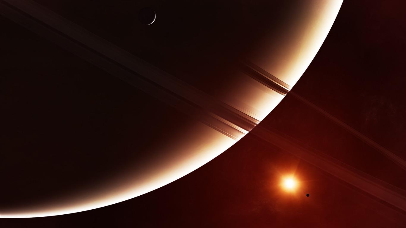 リングシステム惑星土星17高品質の壁紙プレビュー 10wallpaper Com