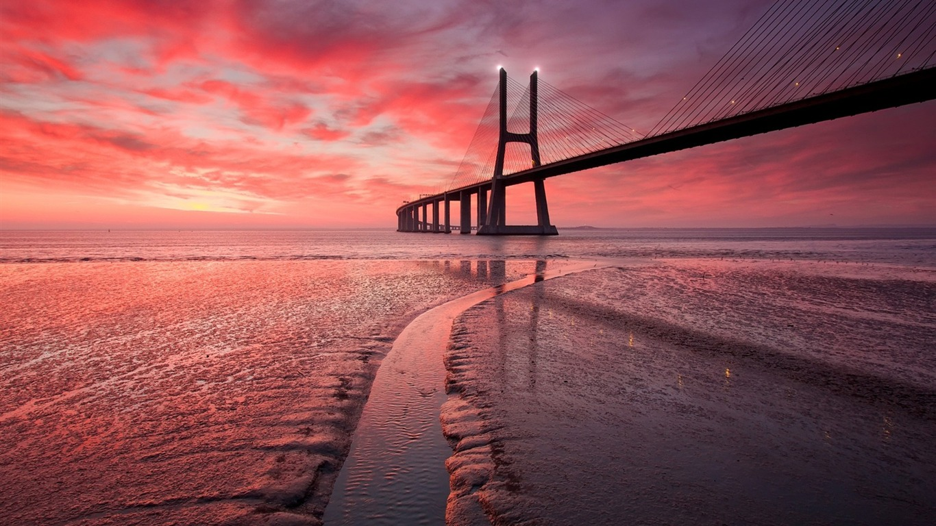 Sunset Sea Bridge Foto Fondo De Pantalla Hd Avance