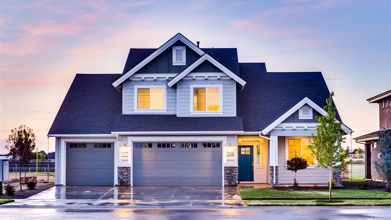 Family House Front Yard Garage 2017 4k Hd Wallpaper Preview