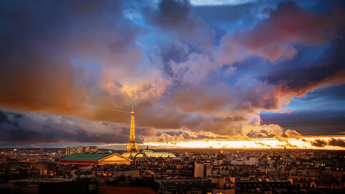 Francés París Torre Eiffel Puesta De Sol 4k Ultra Hd Avance