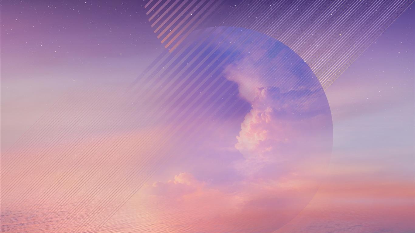 Purple Cloud Ocean Galaxy Note 8 Wallpapers Preview