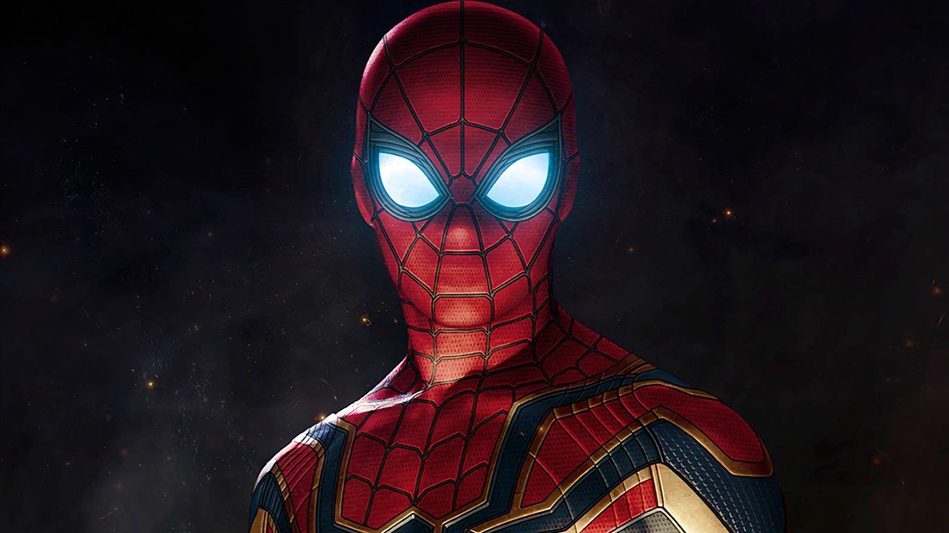 Avengers_Infinity_War_2018_Spider_Man on Spongebob Wallpaper