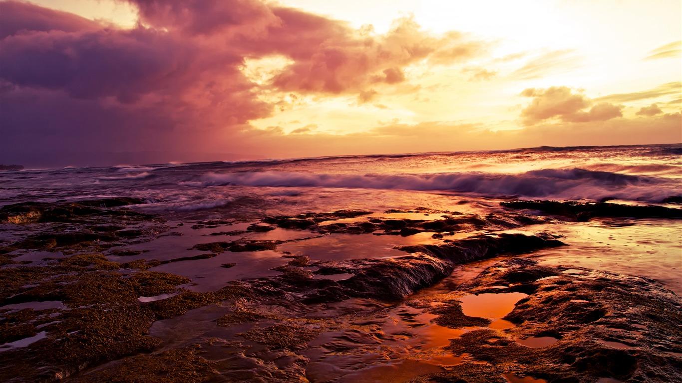 Hawaii Pac 237 Fico Oc 233 Ano Playa Puesta De Sol Avance 10wallpaper Com