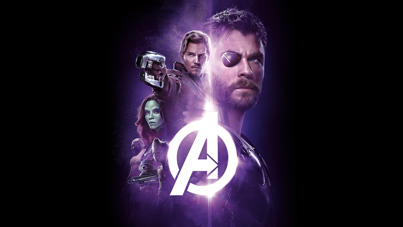 Avengers Infinity War 2018 Purple Theme Poster Preview