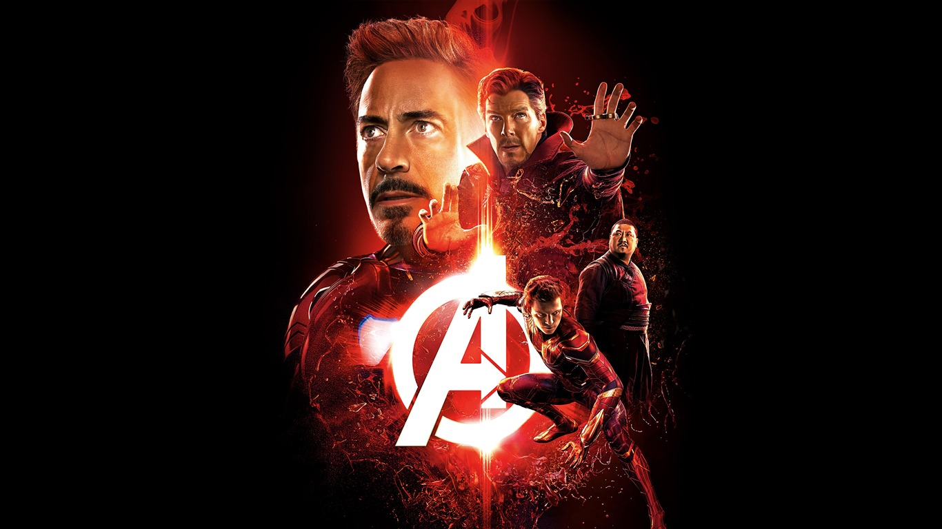 Avengers Infinity War 2018 Red Theme Poster Preview 10wallpaper Com