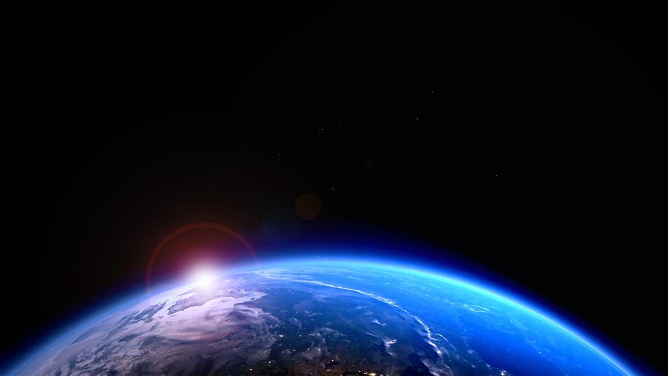 Azul Planeta Terra Luz Do Sol Universo Hd Visualização